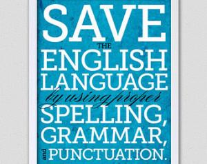 English Save The Language...