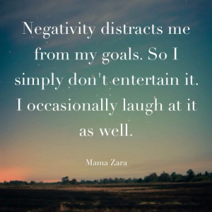 Don't entertain negativity. #quotes #positive #attitude made with ...