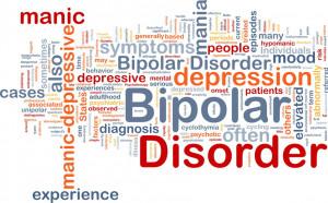 Bipolar disorder background concept