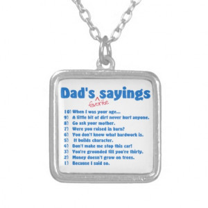 Dad's favourite sayings personalized necklace