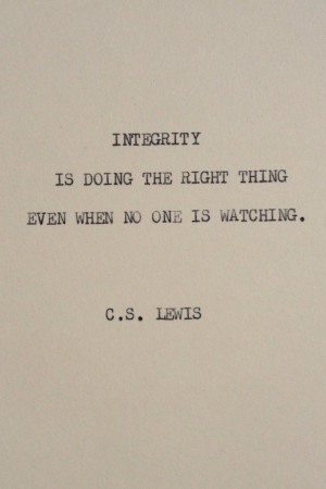 some people that lack integrity. And they think they r good people ...