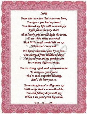 18th birthday quotes – son poem is about a special son poem may be ...