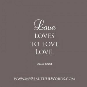 love loves to love love james joyce my beautiful words on facebook ...