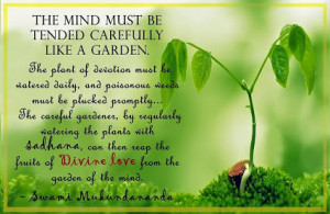 reap the fruits of divine love from the garden of the mind ...