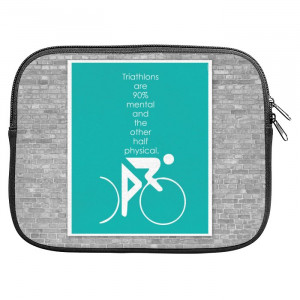 Triathlons Quotes Zipper Pouch