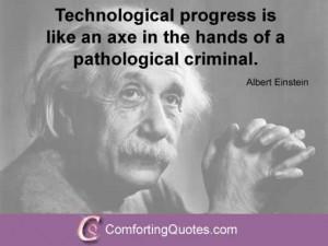 Albert Einstein Quote About Technology