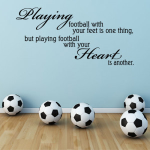 Playing Football With The