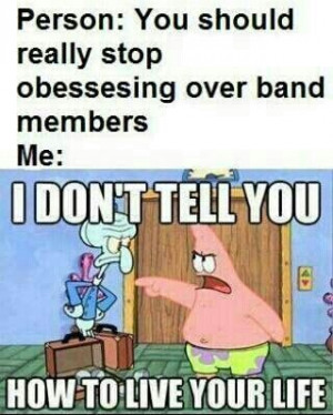 People: you need to stop obsessing over band members