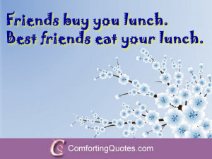 Funny Quotes About Friends and Food