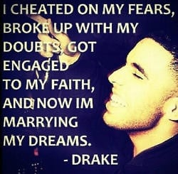 cheated on my fears...