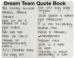 Dream Team quote book, filled with famous quotes from every dream team ...