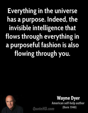 through everything in a purposeful fashion is also flowing through you