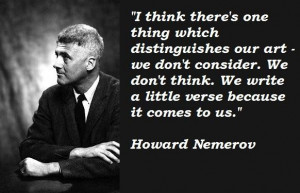 Howard nemerov famous quotes 4