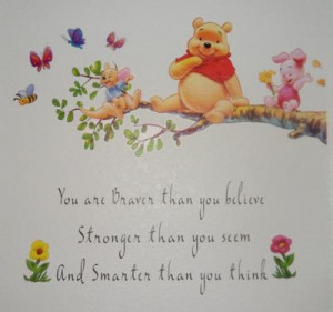 ... Inspirational Winnie the Pooh Quote on Our Baby Girl's Nursery Wall