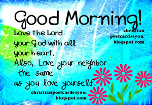Christian Good Morning Quotes