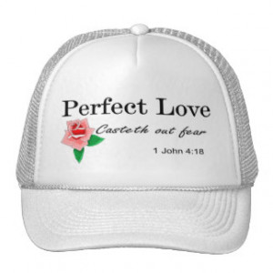 Perfect love casteth out fear mesh hat