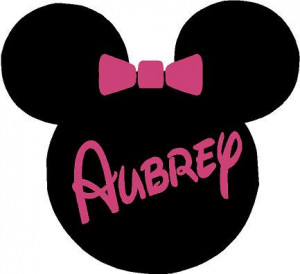Minnie Mouse Ears Name PERSONALIZED 24x22 Vinyl Wall Lettering Words ...