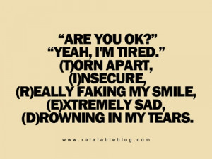 Tired Quotes Tumblr Insecure quotes