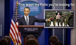 This is not the Putin you're looking for... because this impostor ...
