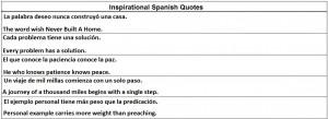 Inspirational Spanish Quotes