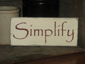 Simplify Wood Sign