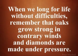 ... without difficulties, remember that oaks grow strong in contrary winds