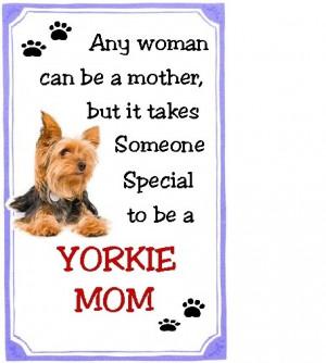 Yorkie Mom Refrigerator Magnet