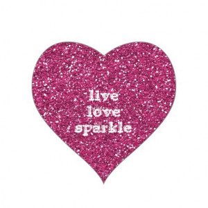 pink_glitter_with_live_love_sparkle_quote_sticker ...