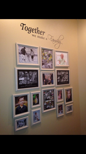 DIY photo collage decor! Adhesive Vinyl wall quote! # ...
