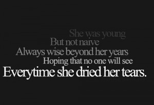 She wasyoung but naive