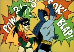 boom bang pow batman and robin were masters at smashing punks and ...