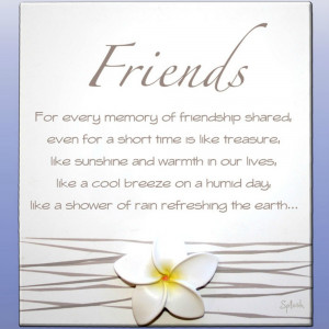 For Every Memory Of Friendship Splosh Poem - Gorgeous Gifts