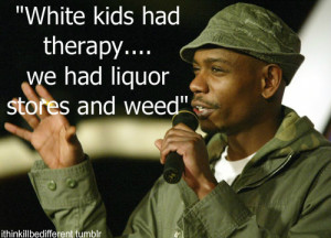 ... about dave chappelle last night at oddball yelling out quotes from