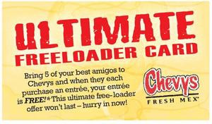 ultimate freeloader facts the ultimate freeloader card offers one ...