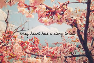 love pretty tree quote heart flowers cherry blossom weheartit story ...