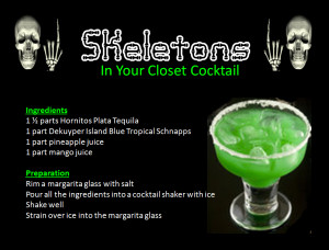 Skeletons in your closet cocktail png