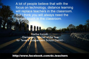 ... Learning Will Replace Teachers In The Classroom - Education Quote