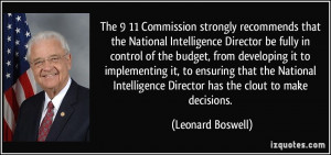 ... that the National Intelligence Director be fully in control