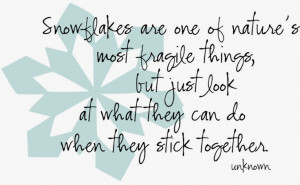 Snowflake Quotes And Sayings Snowflakes are one of nature's