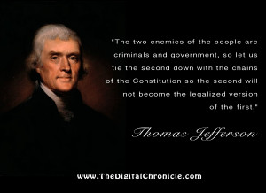 The two enemies of the people are criminals and government, so let us ...