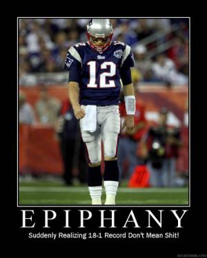 Patriots / Tom Brady De-Motivational Posters Super Bowl 2008