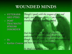 PTSD Affects Soldiers Adjusting to Life after War