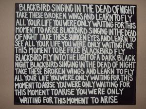 Beatles Blackbird Subway Art