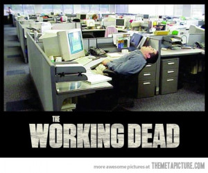 Funny photos funny zombie working job