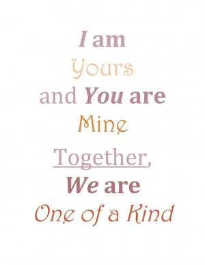 Printable Quote Art I am Yours by SewAdornable on Etsy, $3.00