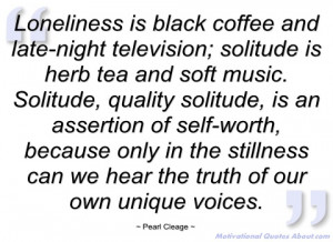 loneliness is black coffee and late-night pearl cleage