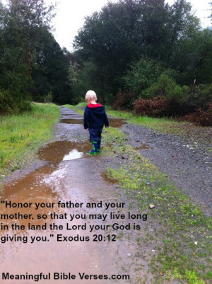 Bible Verses For Honoring Parents