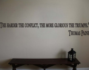 Thomas Paine Inspirational Classroo m Educational Quote Vinyl Wall ...