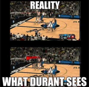 What Kevin Durant Sees During a Game | Funny Photo