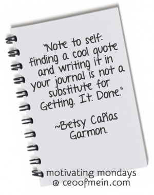 ... getting motivated than actually getting things done too? I would love